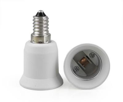 SRKC E14 to E27 Led Bulb Base Adapter Plastic, Stainless Steel Light Socket