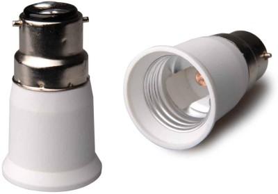 SRKC B22 to E27 Led Bulb Base Adapter Plastic, Stainless Steel Light Socket