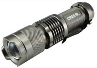 Imported Ultrafire Cree Q5 3 Modes Zoomable Torch / Flashlight LED Front Light(Silver)