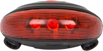 VEEBO Bicycle Rear Tail Light Laser With 5 LED Flashing LED Rear Break Light(RED)