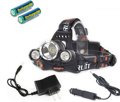 Alria Premium Super Bright 3 X T6 Bicycle Flash Torch + 2 x 18650 Rechargeable Battery + Charger LED Headlamp