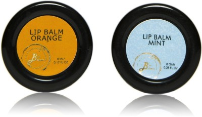 BioBloom Natural Lip Balm Combo - Orange & Mint Orange, Mint