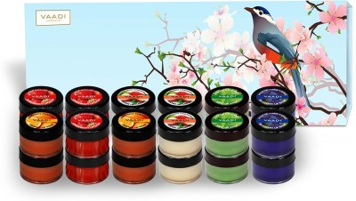 Vaadi Herbals Premium 24 Lip Balm Gift Box (Assorted) Strawberry, Lychee, Mint, Orange, Blueberry(240 g)