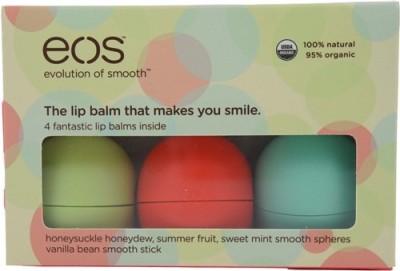 Eos Organic Lip Balm Fruity, Vanilla, Honey, Mint
