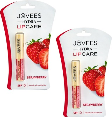 Jovees Strawberry Lip Care (Pack Of 2) Strawberry(2 g)