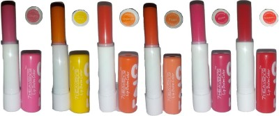 7HEAVENS CRAZY LIP BALM COLOR CHERRY, MANGO DELIGHT, ORANGE, PEACH, ROSE, STRAWBERRY