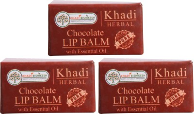Khadi Rishikesh Herbal Pack of 3 Lip Balm Chocolate(8 g)