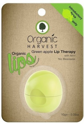 Organic Harvest Lip Therapy With Mint No Beeswax, Green Apple