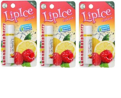 Lipice Lipbalm Lemon Raspberry- Pack of 3 Lemon Raspberry