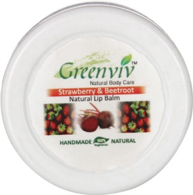 Greenviv Natural Lip Balm Strawberry & Beetroot