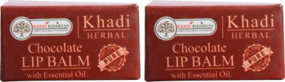 Khadi Rishikesh Herbal Pack of 2 Lip Balm Chocolate(8 g)