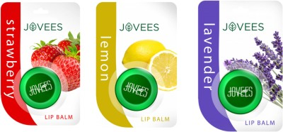Jovees Lip Balm Combo ( Strawberry, Lemon, Lavender) Strawberry, Lemon, Lavender