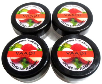 Vaadi Herbals Value Pack of 4 Lip Balm- Lychee Natural