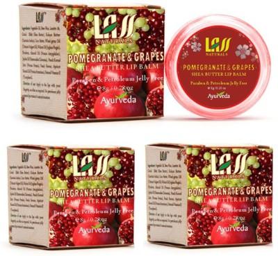 Lass Naturals Lip Balm Set Of 3 Pomegrante