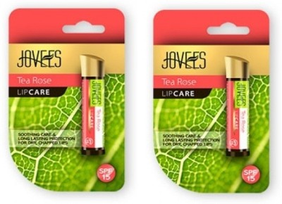 Jovees Tea Rose Lip Care Pack Of 2(8 g)