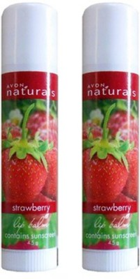 Avon Natural Strawberry Lip Balm (Set of...