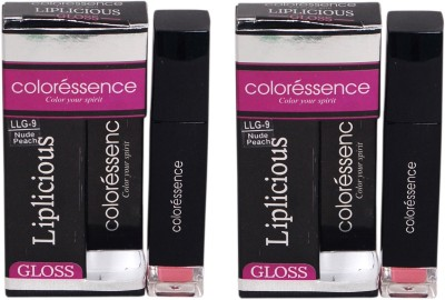 Coloressence Liplicious Gloss Nude Peach (Pack of 2) 6 ml