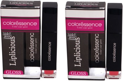 Coloressence Liplicious Gloss Brick House (Pack of 2) 6 ml