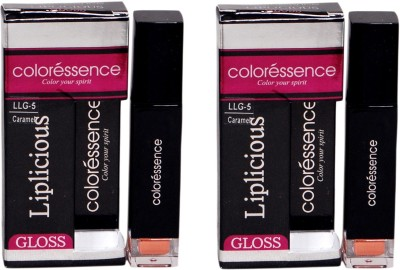 Coloressence Liplicious Gloss Caramel (Pack of 2) 6 ml