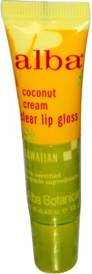 Alba Botanica Clear Lip Gloss, Coconut Cream 12 g