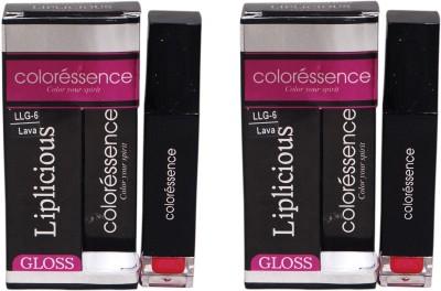 Coloressence Liplicious Gloss Lava (Pack of 2) 6 ml