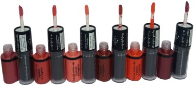 Steel Paris 2in1Perfect-Lipstick&Lipgloss-3.8g-7.2mlX6-1 7.2 ml