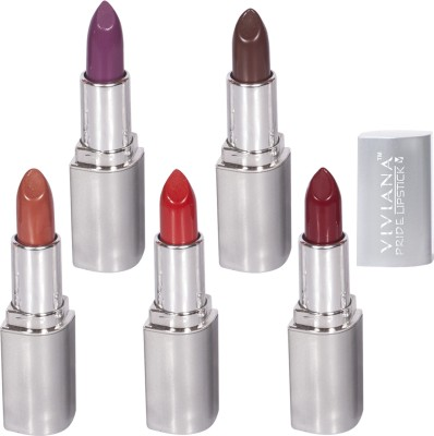 Viviana Set of 5 Silver Lipsticks 4.2 g