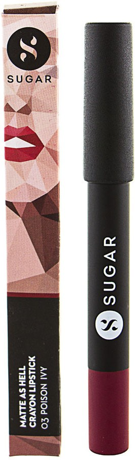 Sugar Matte as Hell Crayon Lipstick- Poison Ivy(2.8 g, Maroon)