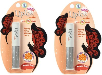 Lipice Lip Color Naughty Orange- Pack of 2 (2.3 g each) 4.6 g