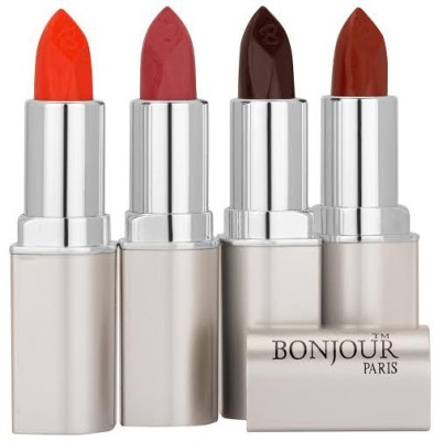 Bonjour Paris Orange Lipstick Combo 23 48 61 63 16 g