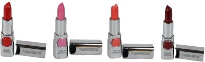 fashion&digital 7 Heavens multicolour 4 lipsticks combo 3.8 g