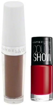 Maybelline Super Stay 14 Hr Lipstick with Downtown Red Nail Enamel 3.3 g