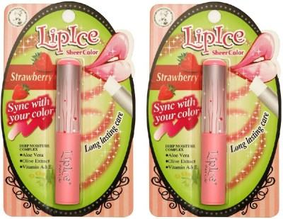 Lipice Sheer Color Strawberry- Pack of 2 (2 g each) 4 g