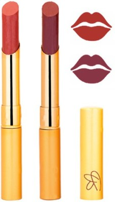 Rythmx Brik Red+Peach Color Lipstick Combo 209 6 g