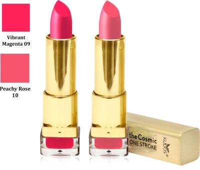 Kudos Color Expert One Strock Hydrating Lipstick Creamy & Luscious lips Vibrant Magenta, Peachy Rose 7.4 g