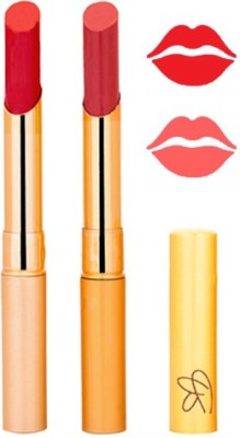 Rythmx Red+Mauve Color Lipstick Combo 230 6 g