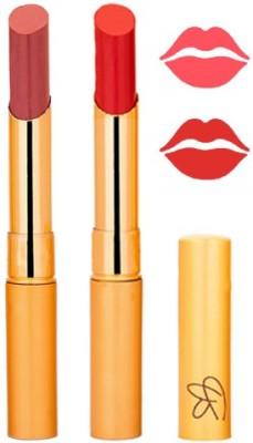 Rythmx Mauve+Red Color Lipstick Combo 203 6 g