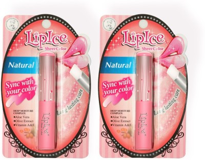 LipIce Sheer Color Natural (2g each) Pack Of 2 4 g