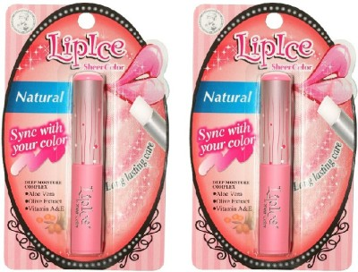 Lipice Sheer Color Natural- Pack of 2 (2 g each) 4 g