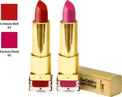 Kudos Color Expert One Strock Hydrating Lipstick Creamy & Luscious lips Crimson Red, Fuchsia Flash 7.4 g