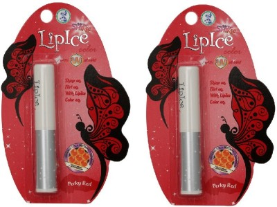 Lipice Lip Color Perky Red- Pack of 2 (2.3 g each) 4.6 g