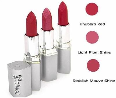 Bonjour Paris Pink Lipstick Combo 62 55 48 12 g