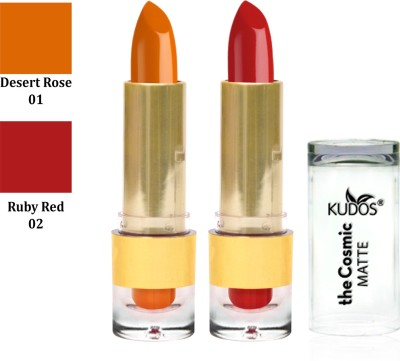 Kudos Color Expert Kudos the Cosmic Matte Lipstick Desert Rose, Ruby Red 7.4 g