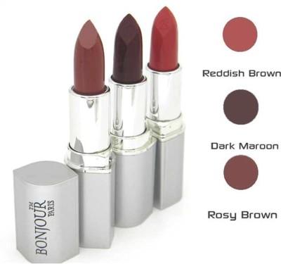 Bonjour Paris Mahroon Lipstick Combo 67 41 13 12 g