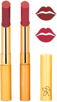 Rythmx Red+Mauve Color Lipstick Combo 216 6 g