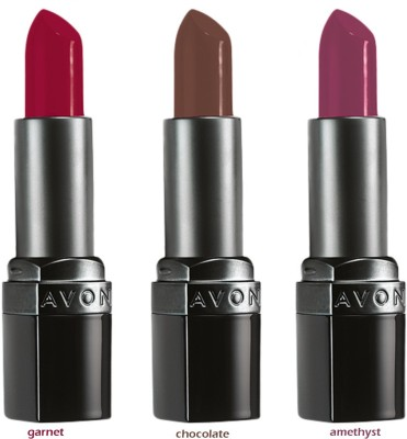 Avon Ultra Color Matte Lipstick (set of 3 of 3.8 g each) - garnet/ chocolate/ amethyst 11.4 g