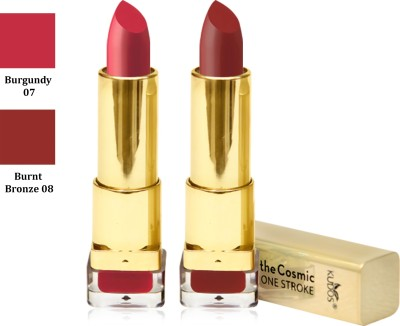 Kudos Color Expert One Strock Hydrating Lipstick Creamy & Luscious lips Burgundy, Burnt