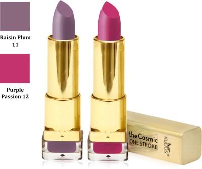 Kudos Color Expert One Strock Hydrating Lipstick Creamy & Luscious lips Raisin Plum, Purple Passion 7.4 g