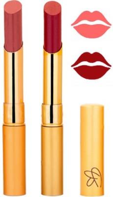 Rythmx Mauve+Mahroon Color Lipstick Combo 201 6 g