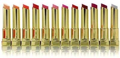 Amuse Butterfly Kiss In Golden Tone Case Set Of Colors Lip #LIP7250 6 g